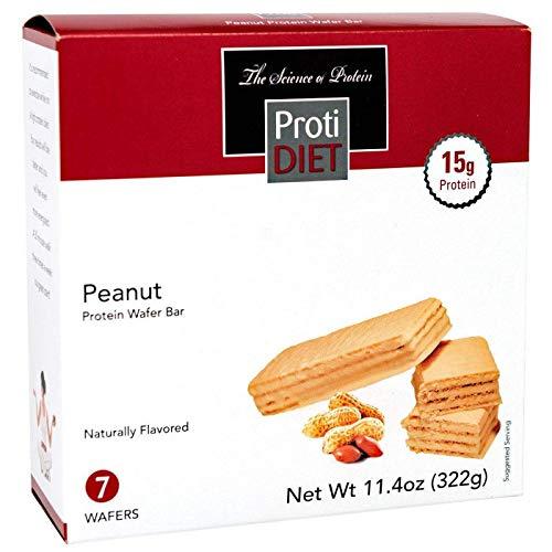 ProtiDIET Peanut Wafer Bar, 7 wafers – 15g Protein