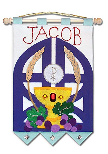 First Communion Banner Kit - 9 x 12 - Gates - Blue]()