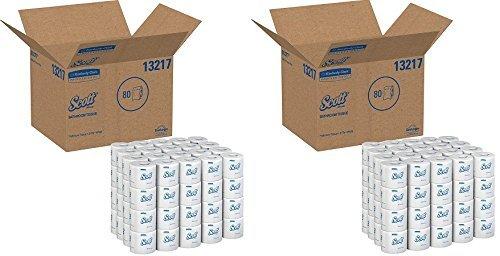 スコット100 %リサイクル繊維バルクトイレ用紙( 13217 ) , 2層標準ロール、ホワイト、80ロール/ケース、506シート/ロール( .2 X 80ロール) B078MHR1TJ