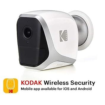 KODAK W101 Cámara de Vigilancia Full HD 1080p - Totalmente Autónoma, Inalámbrica WiFi y Pilas de Larga Duración – Interior / Exterior (4x Pilas LR6 ...