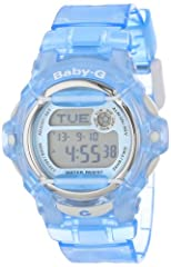 With a vivid, glossy finish and cool urban styling, the Casio Women's Baby-G Blue Whale Watch features performance functions and durable components that meet the lifestyle needs of the modern woman. Stylish rod accents stand out from the watc...