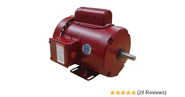 1/2 hp 1725rpm 56 frame tefc (farm duty) 115/208-230 volts leeson electric  motor # 110086: electric fan motors: amazon com: industrial & scientific
