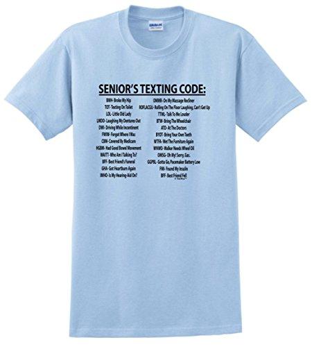 Sweatshirt Reunion T-shirt - Senior Citizen Texting Code T-Shirt Medium Light Blue