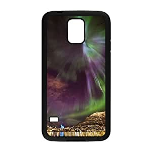 The Aurora Borealis Custom Cover Case with Hard Shell Protection for SamSung Galaxy S5 I9600 Case lxa#379936