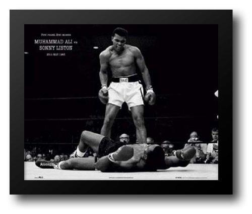 (Muhammad Ali - 1965 1st Round Knockout Against Sonny Liston 24x20 Framed Art Print)