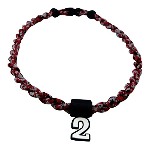 Pick Your Number - Twisted Titanium Sports Tornado Necklace (Maroon Digi Camo)