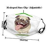Active Pug Dog Kid Face Mask,Children Washable