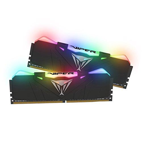 Patriot Viper Gaming RGB Series DDR4 3600MHz 16GB Kit Memory Kit - Black - RGB Color Profiles