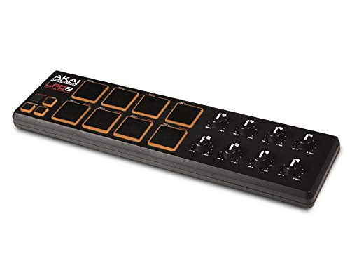 Akai Professional LPD8 | Ultra-Portable USB Drum Pad MIDI Controller for Laptops (8 Pads / 8 Knobs) -