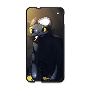 Happy Lovely black greedy cat Cell Phone Case for HTC One M7