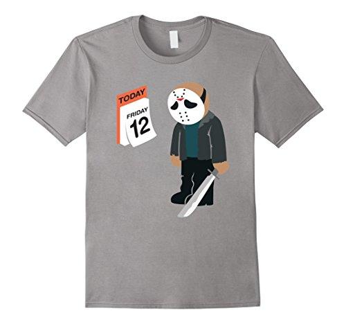 Men's Friday the 12th Shirt Funny Jason Shirt Medium Slate (Jason Voorhees Clothes)