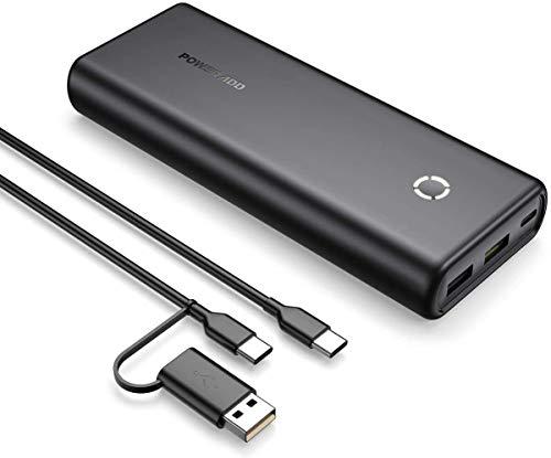 POWERADD Powerbank EnergyCell 20000mAh Power Bank PD 18W Externer Akku mit USB C Anschluss, Tragbares Ladegerät mit Power Delivery, Schnellledefunktion für iPhone Samsung Smartphone-Schwarz