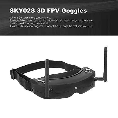 Wikiwand SKYZONE SKY02S V+ 3D 5.8G 40CH FPV Goggles Video Glasses w/ Transmitter Camera
