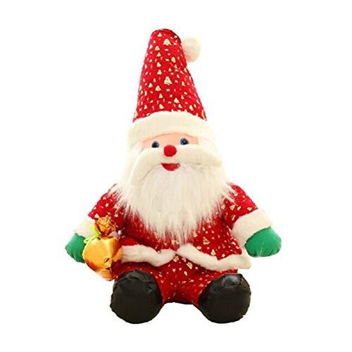 BESTOYARD Christmas Plush Santa Claus Doll Toy Tabletop Ornament Home Party Shop Window Decoration (25cm) -