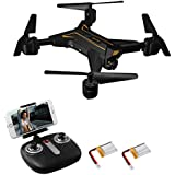 Foldable Drone for Kids & Beginners, Remote Control Drone Helicopter with Headless Mode, 3D 360° Flip and Roll, [One-key Return], Foldable Arms, Bonus Battery