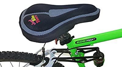 Bike Seat Cover - Best Padded Memory Foam Bicycle Saddle Cushion Pad for Exercise Comfort - Men and Women - Adult and Youth - Mountain and Road