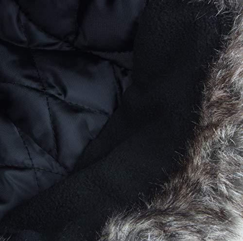 Angelsport Kopfbekleidung Winter Fellmütze mit Steppfutter und wasserabweisendem Nylon Taslon Obermaterial