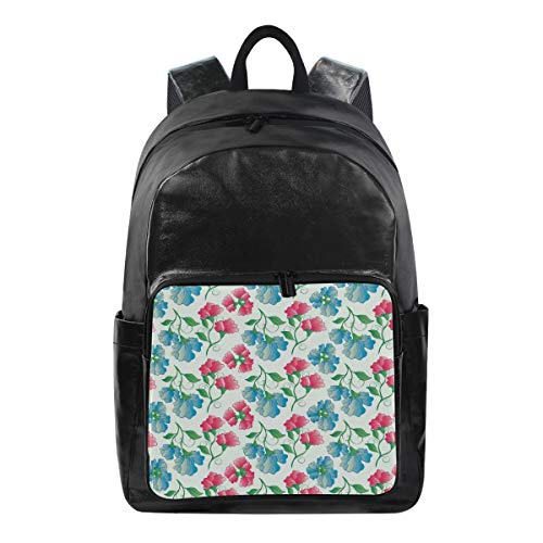 - Flower Simple Backpack School Bags Casual Stylish Outdoor Sports Large Capacity Casual Travel Rucksack Student College Bookbag for Men Women Teenagers Black