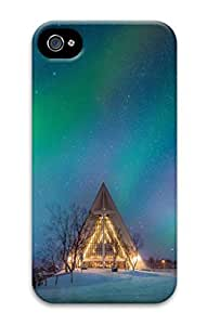 3D PC Case Cover for iPhone 4 Custom Hard Shell Skin for iPhone 4 With Nature Image- Norway Sky