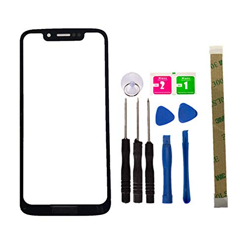 Replacement Repair Front Top Glass Lens Cover Screen for Motorola G7 Play Mobile Phone Parts and Adhesive Tool (No LCD Touch Digitizer) -  Da Ze Xin