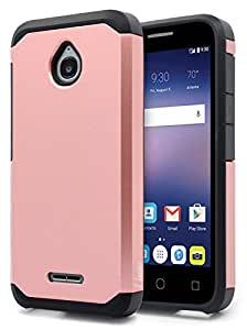 Alcatel Ideal Case, Alcatel Ideal 4G LTE / Pixi Avion 4G LTE / Pixi Bond / Dawn / Streak Case, NageBee Design Premium [Heavy Duty] Defender [Dual Layer] Protector Hybrid Case - Rose Gold