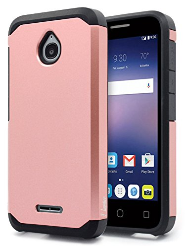Alcatel Ideal Case, Alcatel Ideal 4G LTE/Pixi Avion 4G LTE/Pixi Bond/Dawn / Streak Case, NageBee Design Premium [Heavy Duty] Defender [Dual Layer] Protector Hybrid Case - Rose Gold