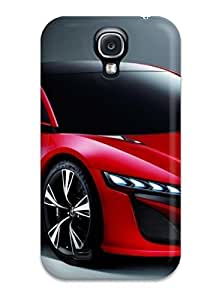 Hot WeqDWmt2783KtTTX Case Cover Protector For Galaxy S4- Two Door Red Car On Gray
