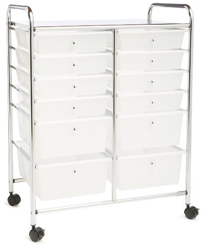 Honey Can Do Rolling Storage Cart And Organizer With 12