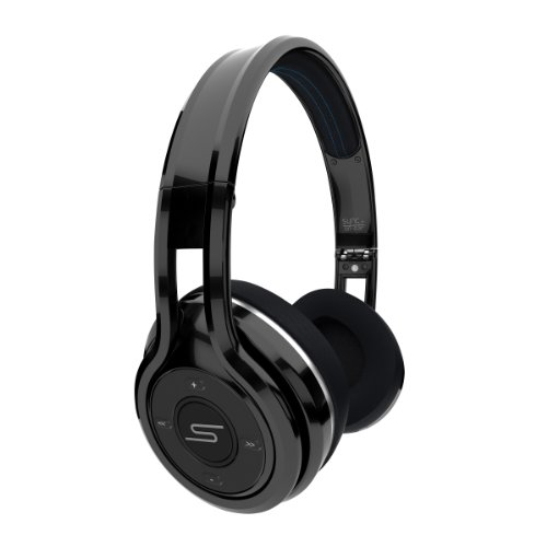 SMS Audio SYNC by 50 Bluetooth Wireless On-Ear Headphones - Black
