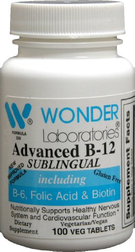 Sublingual Vitamin B12 (1000 mcg), B6 (5mg), Folic Acid(400 mcg) & Biotin (25mcg) - 100 Sublingual Tablets - Formulated with methylcobalamin Vitamin B-12. (Sublingual Vitamin B12 1000 Mcg compare prices)