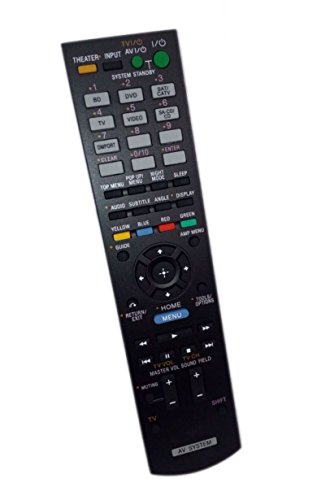 Replaced Remote Control Compatible for Sony HTC-T150 RM-AAU072 1-487-612-11 HTCT150HP HT-CT150HP Audio/Video AV Receiver Home Theater System