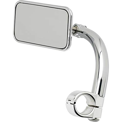 Biltwell UM-REC-01-CP Rectangle Bar Mount Mirror with 1'' I.D. Clamp-Chrome