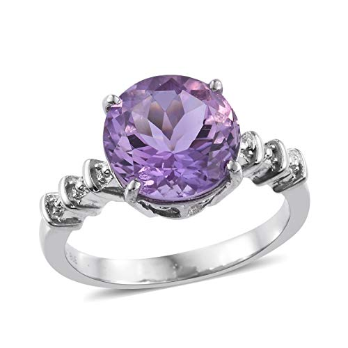 (Shop LC Delivering Joy Solitaire Ring Stainless Steel Round Pink Amethyst Gift Jewelry for Women Size 5 Ct 4.7)