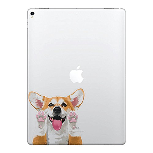 FINCIBO 5 x 5 inch Cute Red Pembroke Welsh Corgi Removable Vinyl Decal Stickers for iPad MacBook Laptop (Or Any Flat Surface)