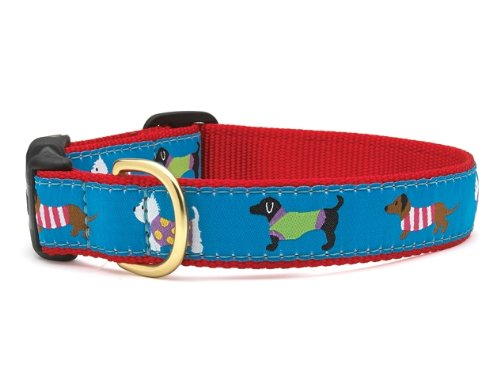 "Puttin' On The Knits Dog Collar - XL (18-24"") 1"" wide"