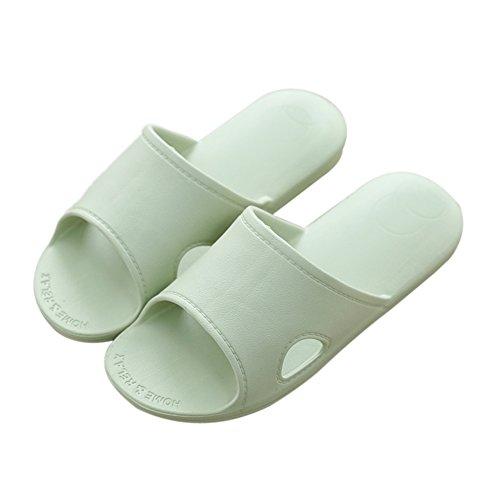 verde interior Hogar Zapatillas baño grueso TELLW inferior de para zapatillas hombre de frescas de hombres verano Mujer antideslizante BqWwTSx