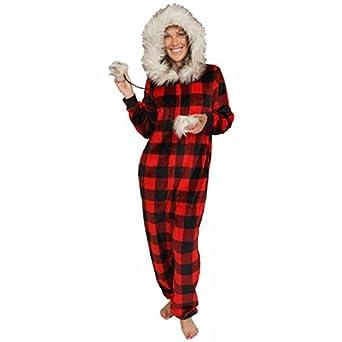 67c4df9d77 ... Christmas Moose Dropseat Sweet Treasures  store 91a58 2b888 Secret  Treasures Womens Pajama Union Suit One Piece Sleepwear ...