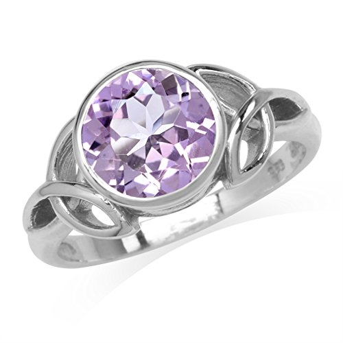 Round Amethyst Fashion Ring - 9