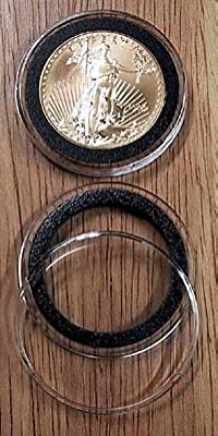 10 Black Ring Type 32mm Air Tite Coin Holders for 1oz Gold Eagles