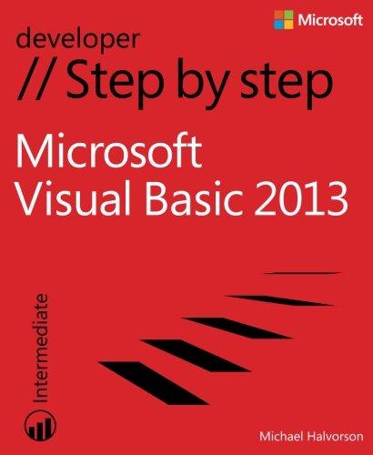 Microsoft Visual Basic 2013 Step by Step (Step by Step Developer) by Microsoft Press