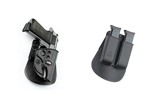 Fobus verdeckte Trage Sicherungs-Pistolenhalfter Halfter Holster + 6922 Doppel magazintasche für Walther PPK, PPKS (old versions) FEG 380 PMK