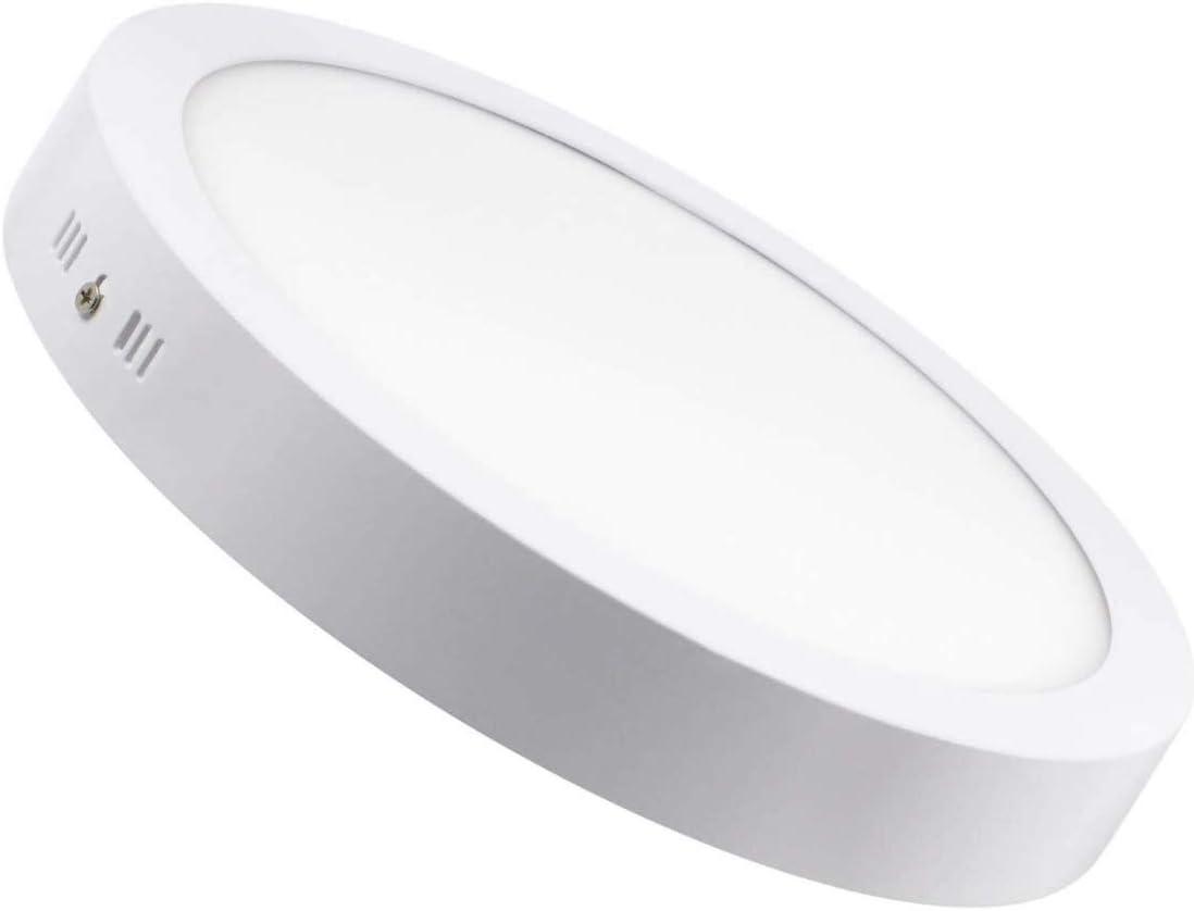 Lampara Plafon Superficie LED Redondo 18W. Color Blanco Frío (6500K). 1600 Lumenes. Driver incluido. A++
