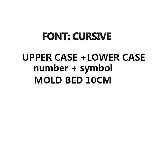 Tool Parts WDN T-slot Brass Letters Die Cut Deboss Mold Hot Foil Stamp Copper Alphabet Press Set Customized Font DIY Character Mold - (Color: CURSIVE)