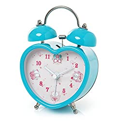 Montage Montage, Twin Bell Owl Alarm Clock, Blue
