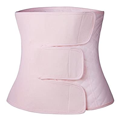 Paz Wean Post Belly Band Postpartum Recovery Belt Girdle Belly Binder, Cotton Pink