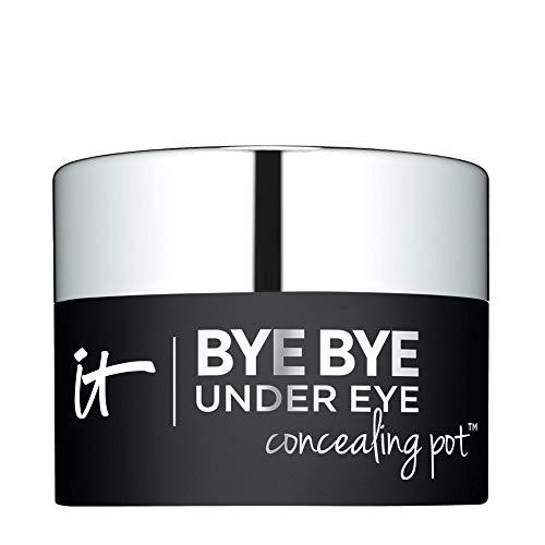 IT Cosmetics Bye Bye Under Eye Concealing Pot, Warm Deep (W) – Skin-Smoothing Eye Cream & Concealer – Covers Dark…