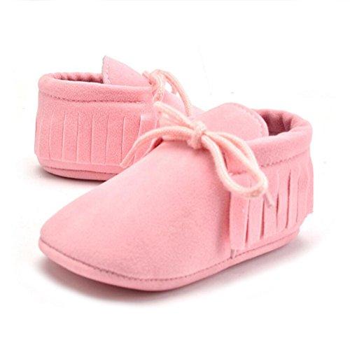 Vlunt Baby Lauflernschuhe Quasten Weiche Beiläufige Schuhe Rosa