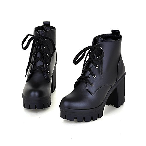 Tie Boots Heel Platform High Boots Waterproof Style Women's Heel New A Booties high wxq8S4Pw