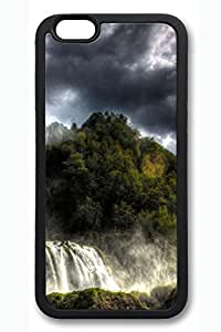 iPhone 6 Case - Forest Waterfalls Hdr Beautiful Scenery Pattern Rubber Black Case Cover Skin For iPhone 6 (4.7 inch)