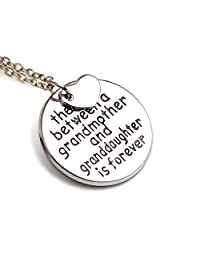"Grandma Pendant Necklace ""The love between a grandmother and granddaughter is forever"" - 18''"